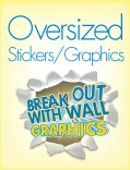 Oversized Graphics and Stickers